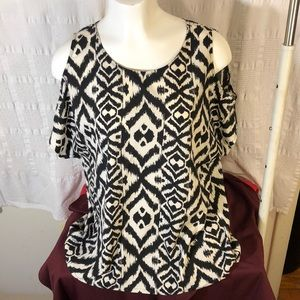 3/$20 French Connection Cold Shoulder Top